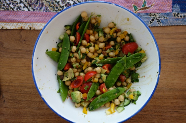 Chickpea Avocado Symphony Salad