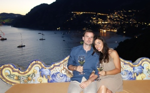 Enjoying our last night in Positano at Il San Pietro (1 star Michelin restaurant.) The setting was absolutely spectacular!