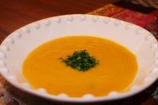 Warm, comforting butternut squash soup!